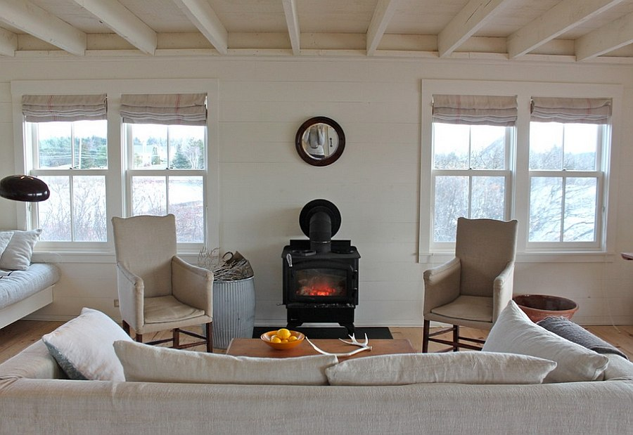 White is a great choice for small rustic living rooms [From: Justine Hand]