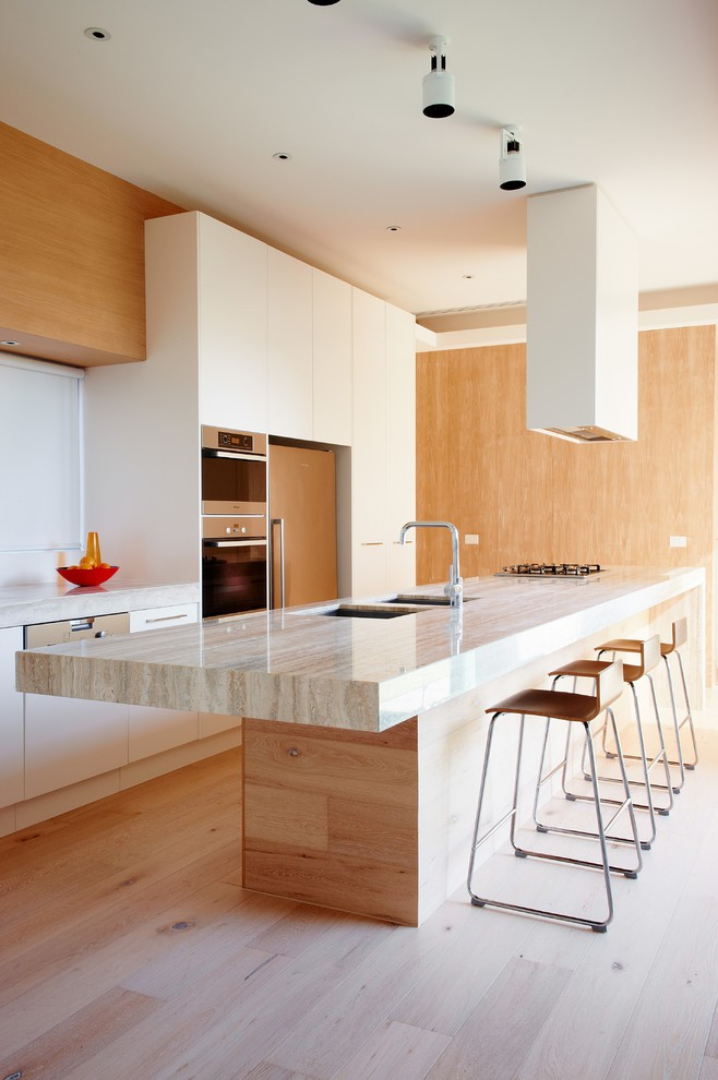 Wood adds natural warmth and softness to the room