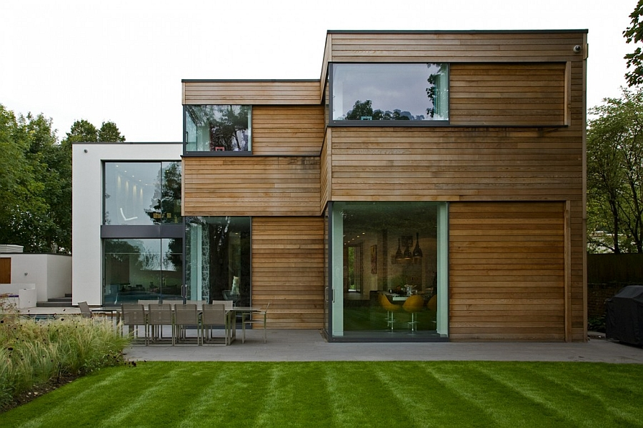 Wooden exterior of the lovely London home