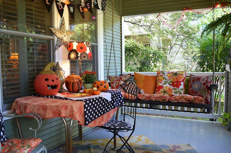 You need not always turn to paint and walls for Halloween colors [Design: Sarah Greenman]