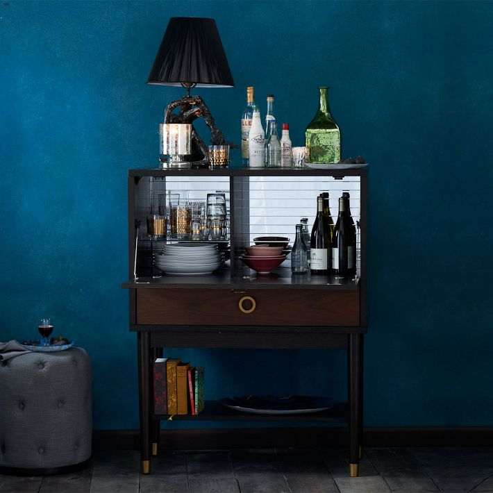 compact bars, bar carts, wall mounted bars, bars for small spaces