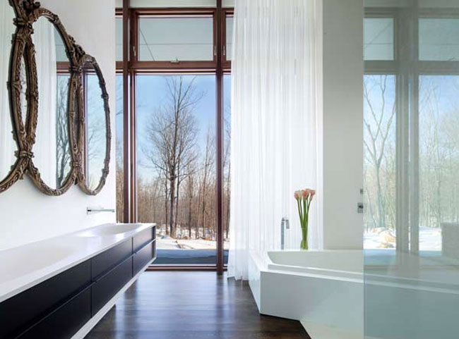 house in the woods 8 Inspirational Bathrooms That Will Blow You Out Of The Water With Their Designs