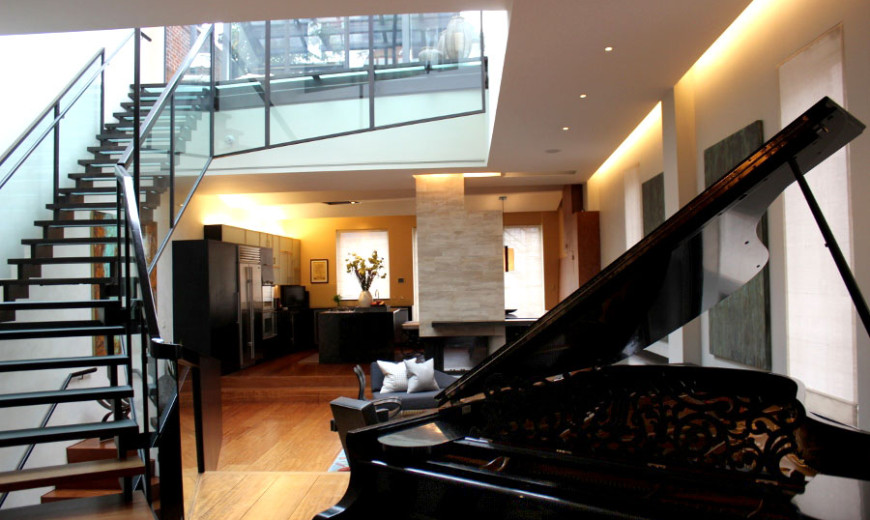 Harmonious Manhattan Penthouse Takes Design Cues from a Stradivarius Violin