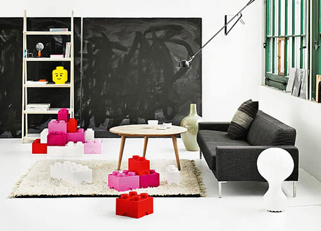 lego storage bricks 3 8 Whimsical Home Furnishings That Will Make You Smile