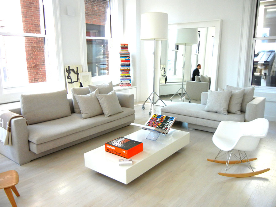 White And Bright Duplex In The Sky Pleases With Pops Of Color
