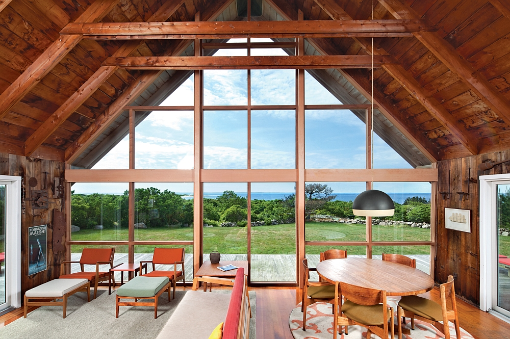 A-Frame Cathedral Ceiling adds classic appeal to the island retreat