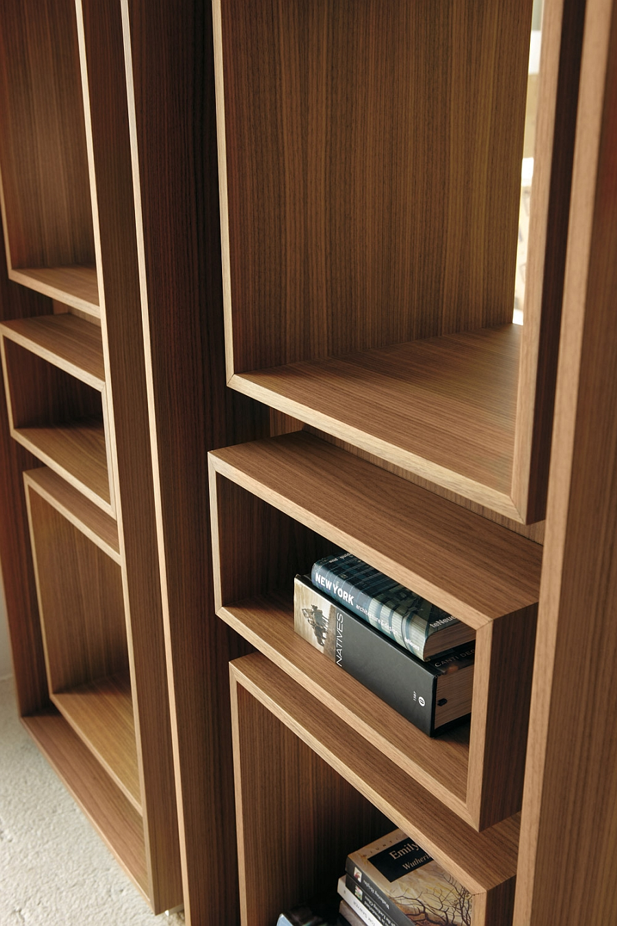 5 trendy modern bookshelves that unleash warmth of wood - Contemporary built in bookshelves ...