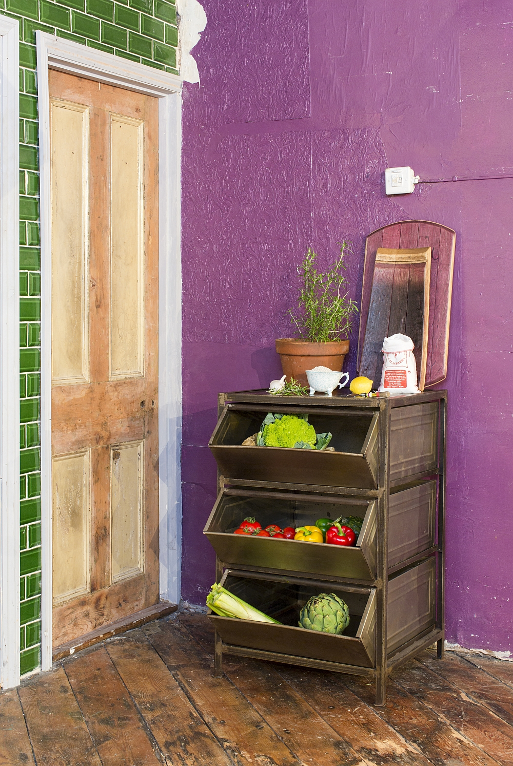 A perfect storage unit for the home office and kitchen