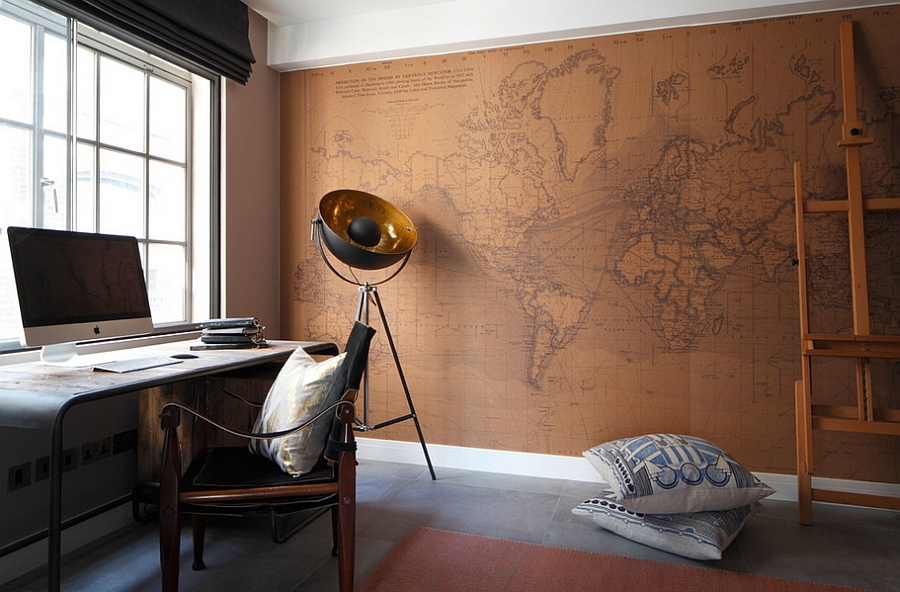 A unique backdrop for your trendy home office [Design: Oliver Burns]