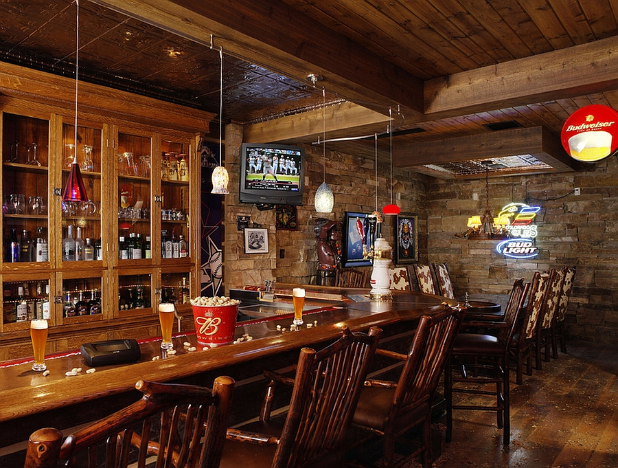 27 basement bars that bring home the good times Rustic style attic design a corner full of passion