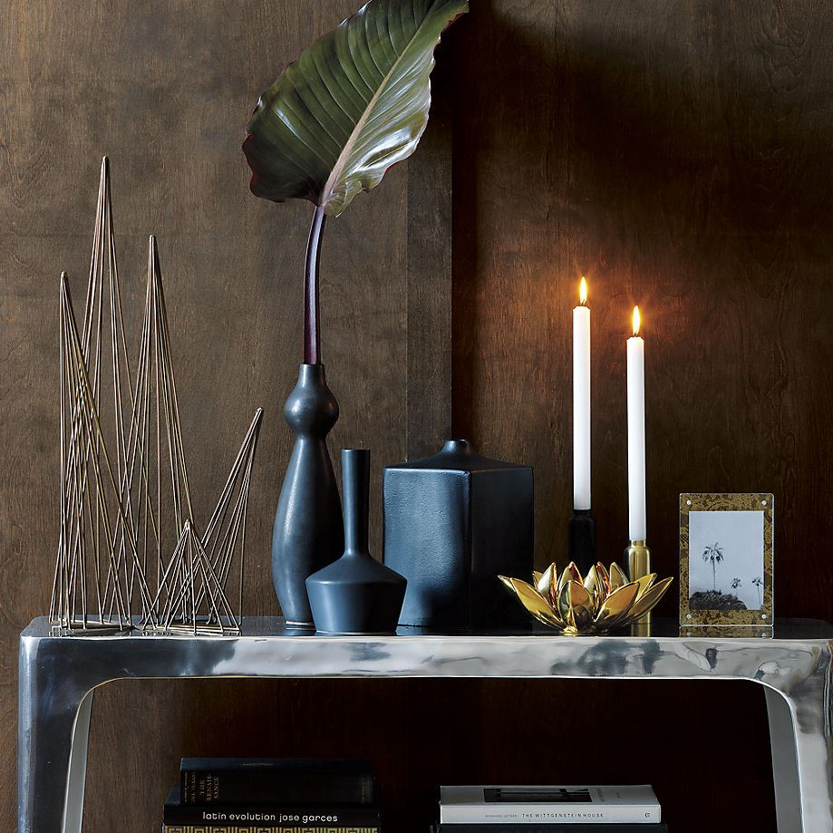 Aluminum console table from CB2