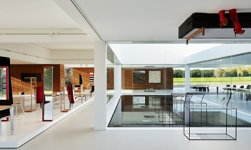 Glass Cube: Molteni&C and Ron Gilad Redefine Showroom Design!