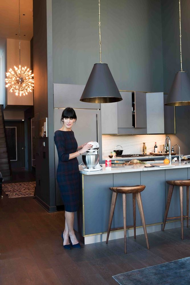Athena Calderone in her beautifully designed kitchen