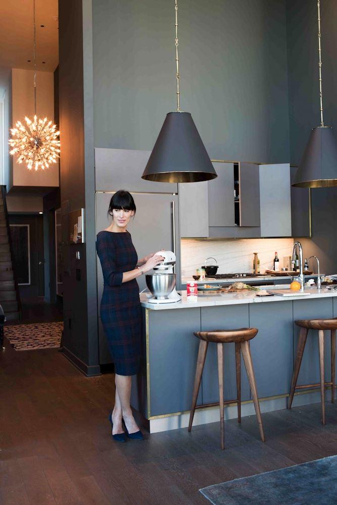 Athena Calderone in her beautifully designed kitchen