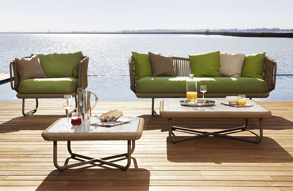 Babylon outdoor seating collection by Varaschin
