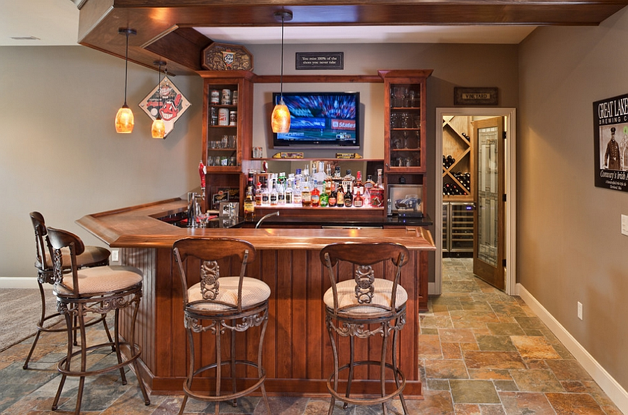 27 basement bars that bring home the good times - Home basement bar ideas ...