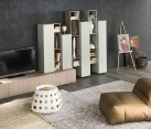 Beautiful Day System of shelves and storage units for the living room