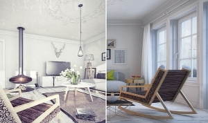 Beautiful Scandinavian interior with the HALUZ Chair