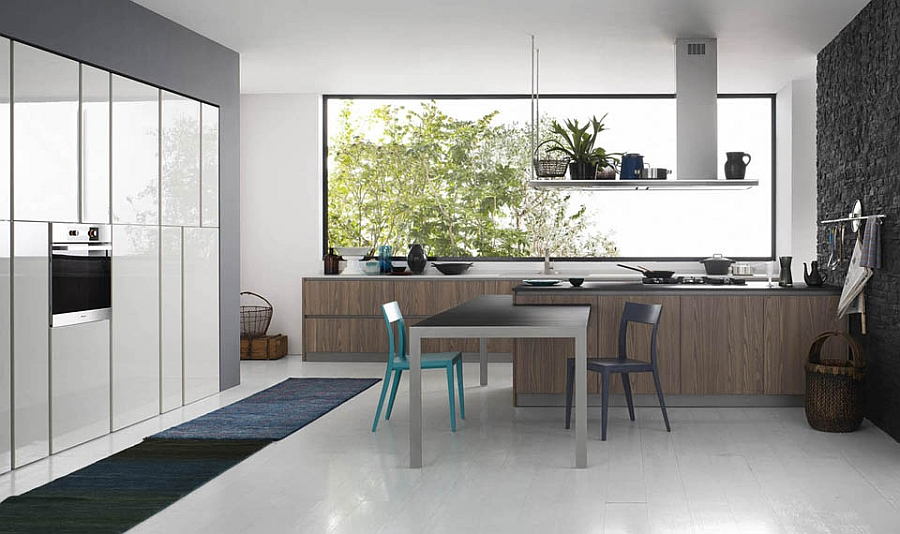Beautiful modern kitchen with sleek ergonomic design Fabulous Italian Kitchens Unravel Space Savvy Design Solutions