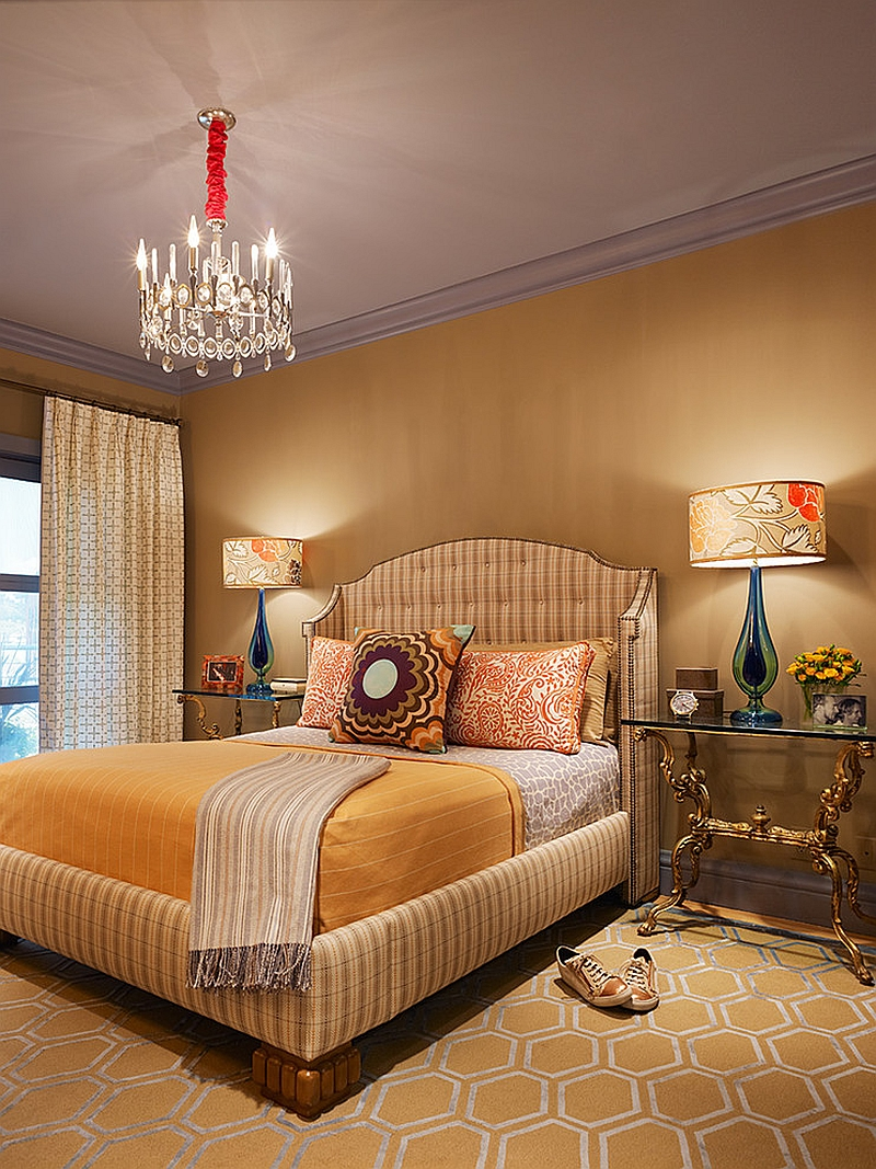 Bedroom design that pays homage to David Hicks! [Design: Jeffers Design Group]