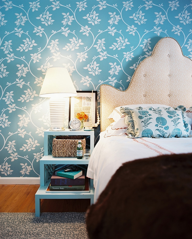 Wallpaper Bedroom Ideas: 10 Unique Nightstands For Some Bedside Brilliance