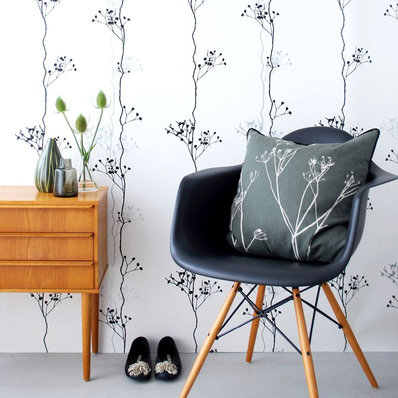 Berry Black Wallpaper from Ferm Living 10 Small Entryway Designs With Larger than Life Appeal