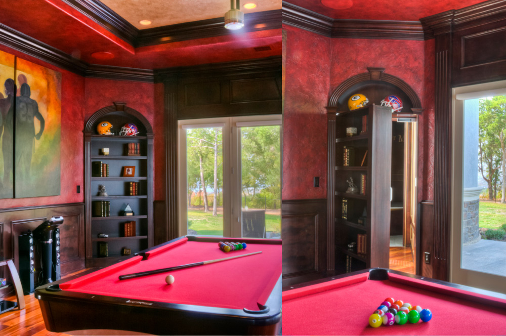 Billiard Room Hidden Door