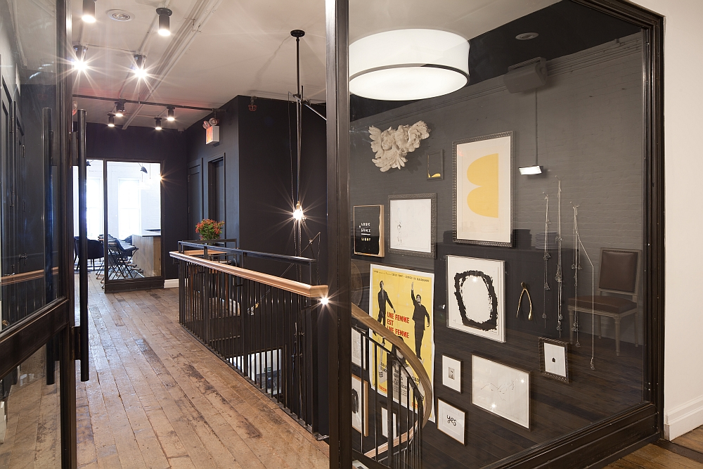 Black brings a touch of sophistication indoors