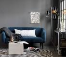 Blue micro-velvet sofa from CB2