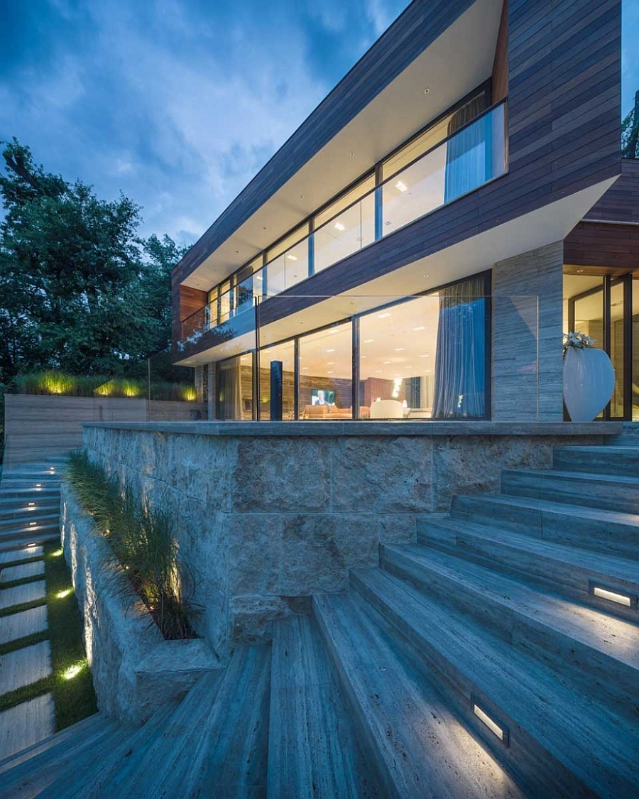Brilliant lighting and wonderful use of glass give the villa a unique appeal