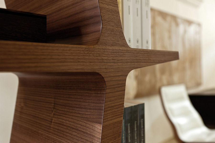 Carefully crafted wooden bookshelf for the modern home