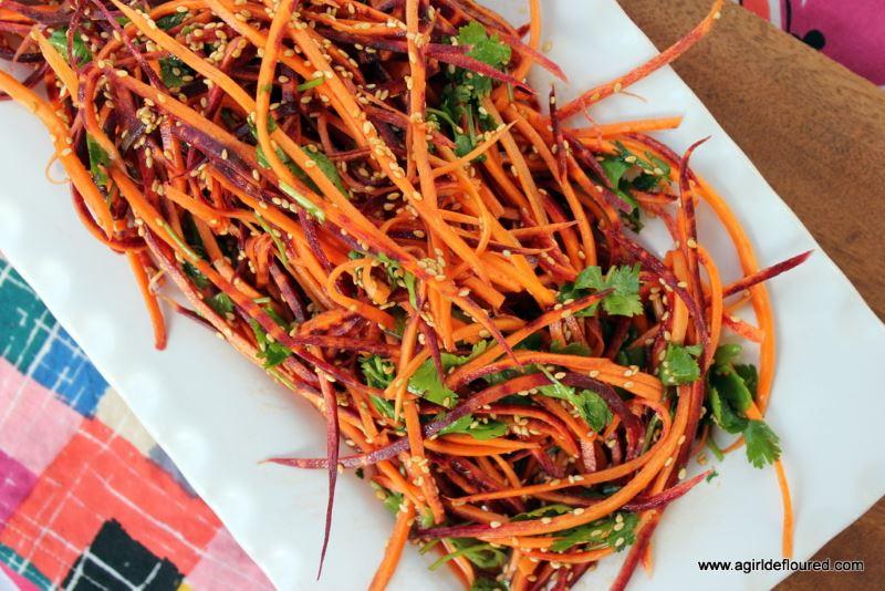 Carrot sesame slaw from A Girl Defloured