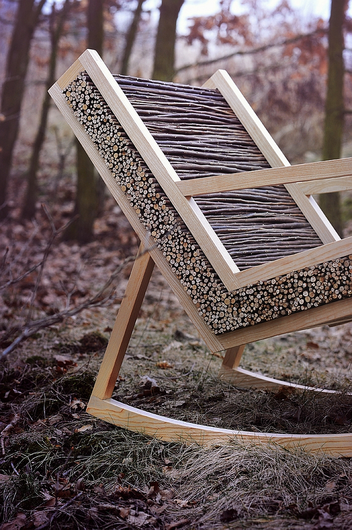 Closer look at the unique design of HALUZ Chair