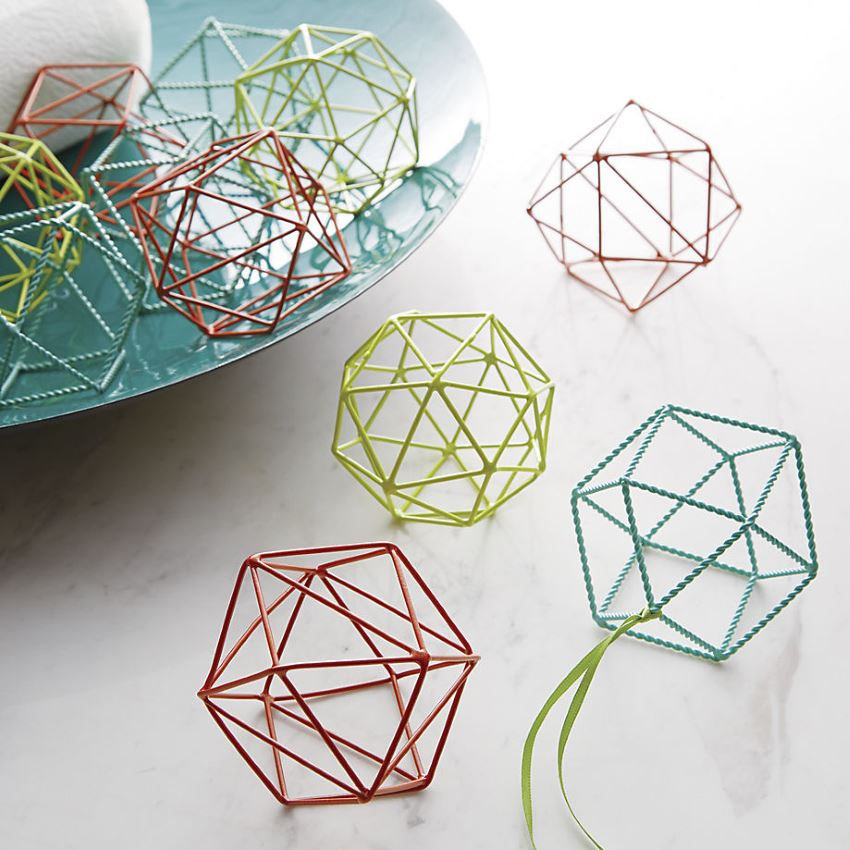Colorful geo ornaments
