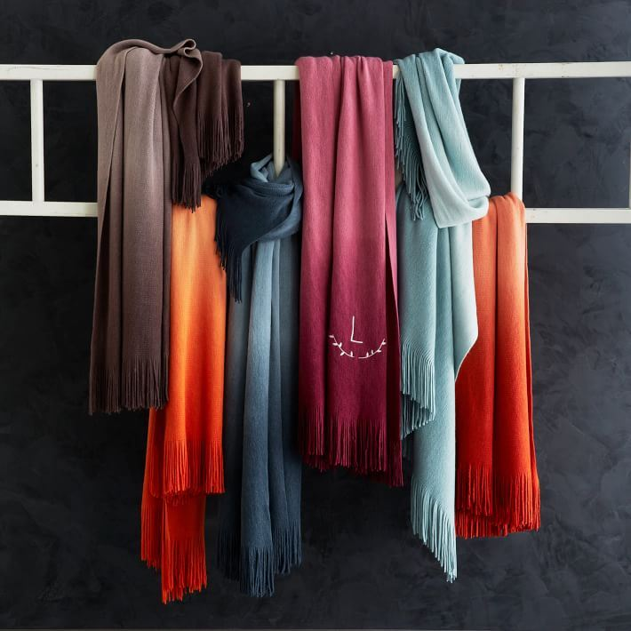 Colorful ombre throws from West Elm