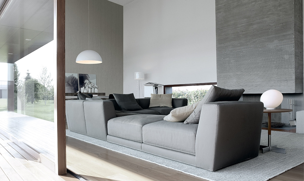 Combine low and high armrest units to create a stunning sectional