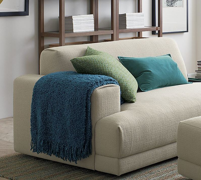 Comfy teal throw from Crate & Barrel