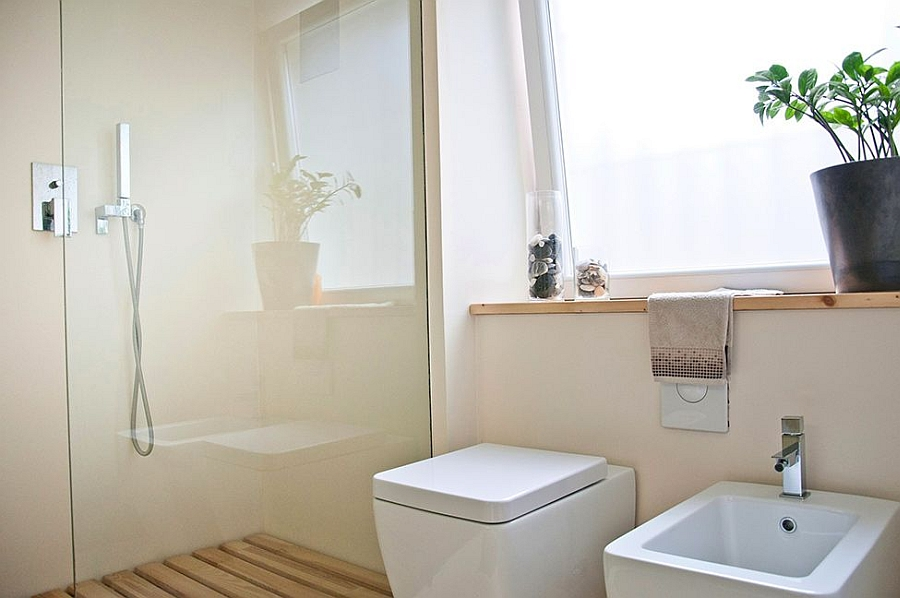 Contemporary bathroom that is space savvy