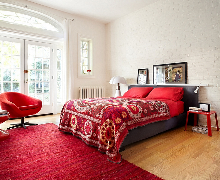 Bedroom Ideas In Red 23 bedrooms that bring home the romance of red