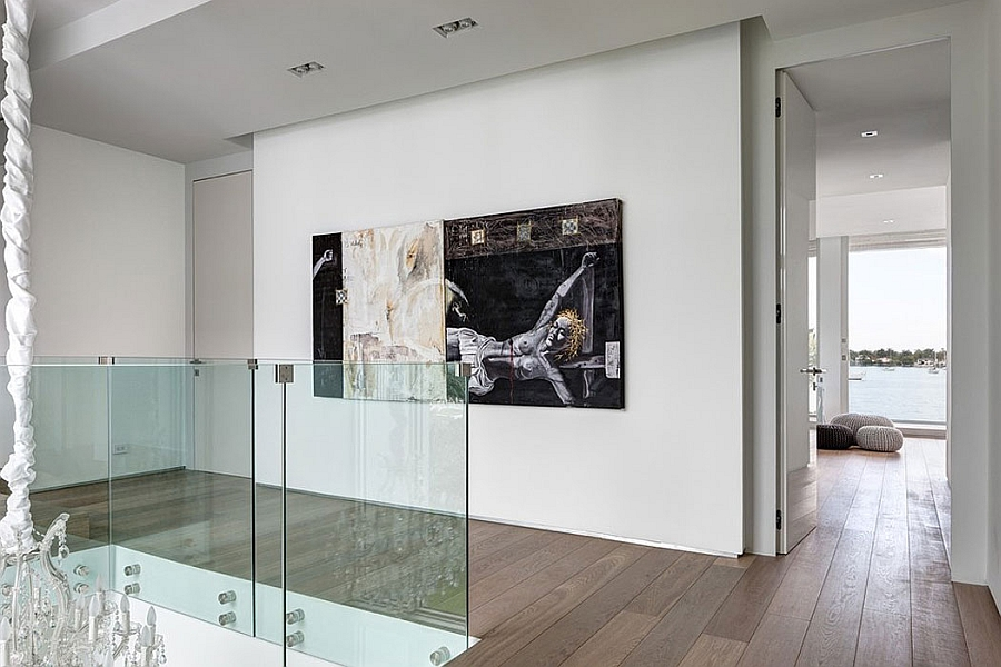 Contemporary interior with carefully curated artwork