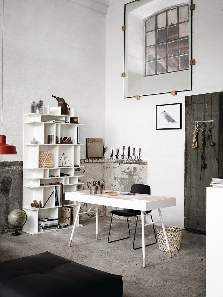 27 ingenious industrial home offices with modern flair - New contemporary home office furniture style ...