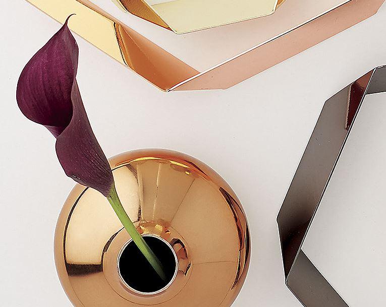 Copper bud vase from CB2