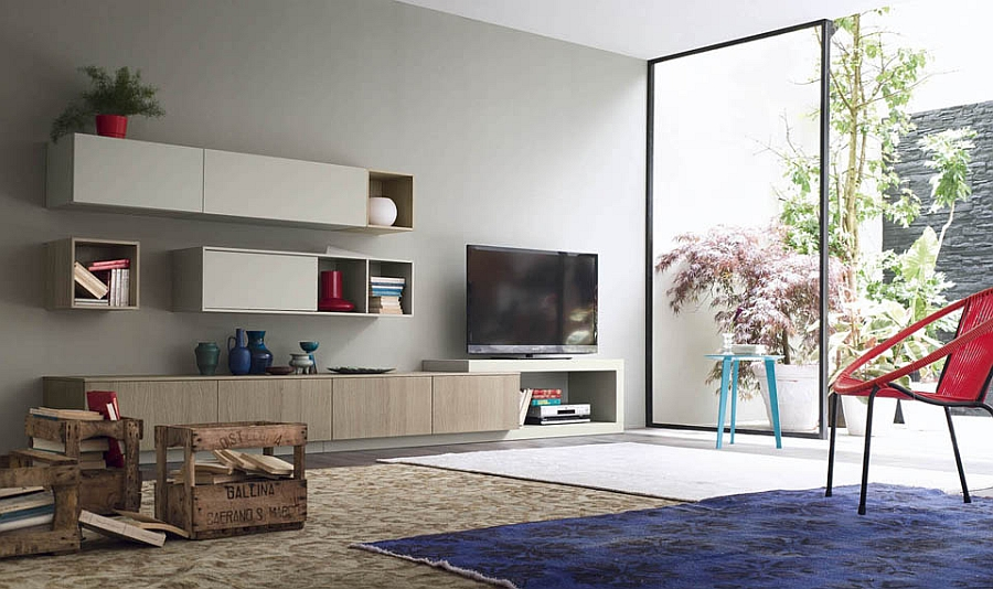 Creative wall units offer space-conscious design solution for the living room