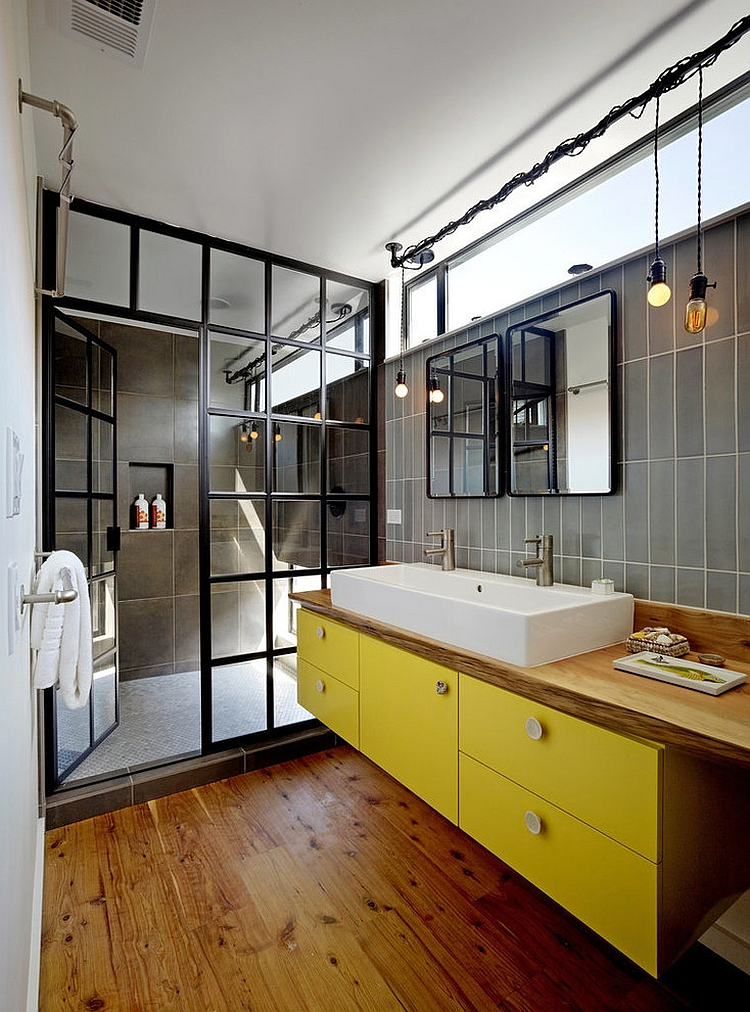 Delicieux View In Gallery Custom Shower Glass Door Gives The Bathroom A Unique Look  [Design: Robert Nebolon Architects