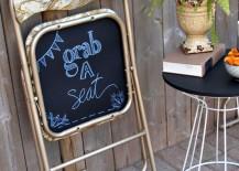 DIY Chalkboard Folding Chair