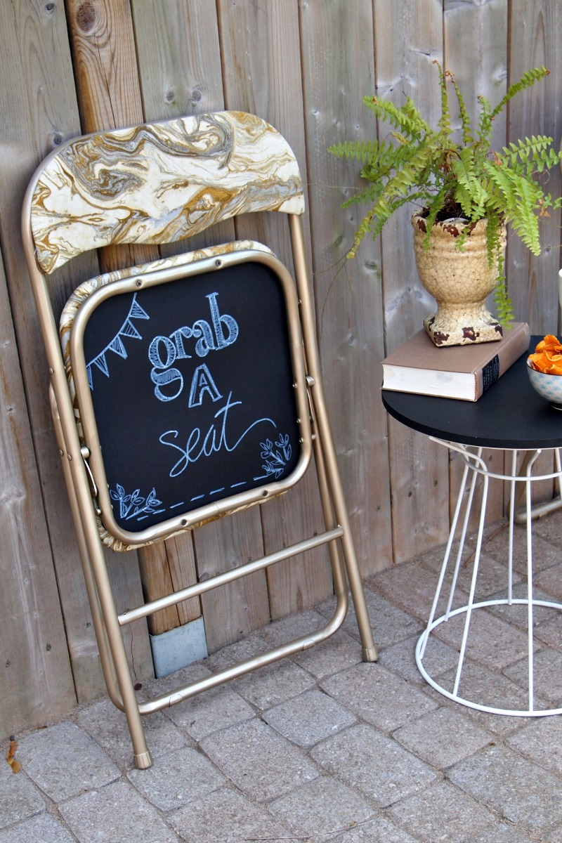 DIY Chalkboard Folding Chair