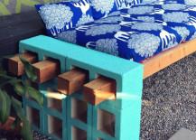 DIY Cinderblock Bench After