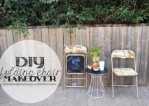 DIY Folding Chair with Chalkboard Bottom