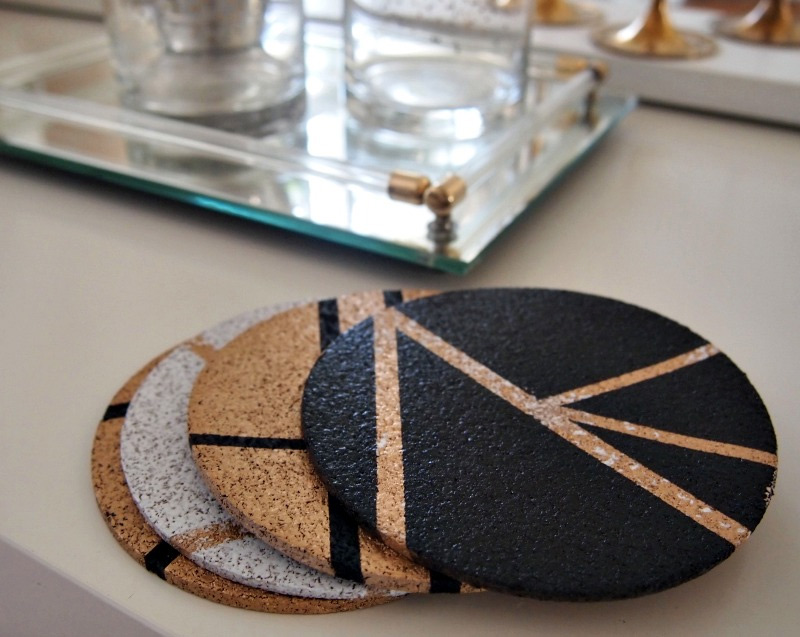 DIY Gold Coasters