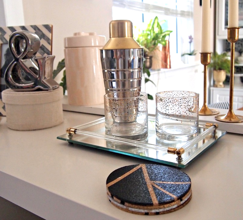 DIY Gold Tone Coasters